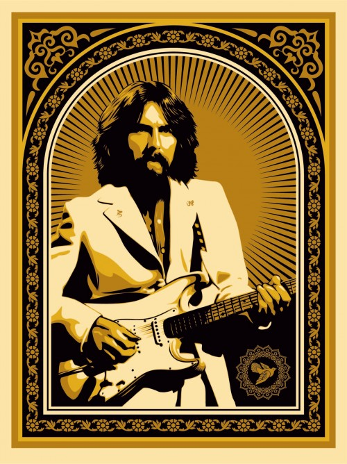 Friendship support George Harrison Shepard Fairey Obey   411posters
