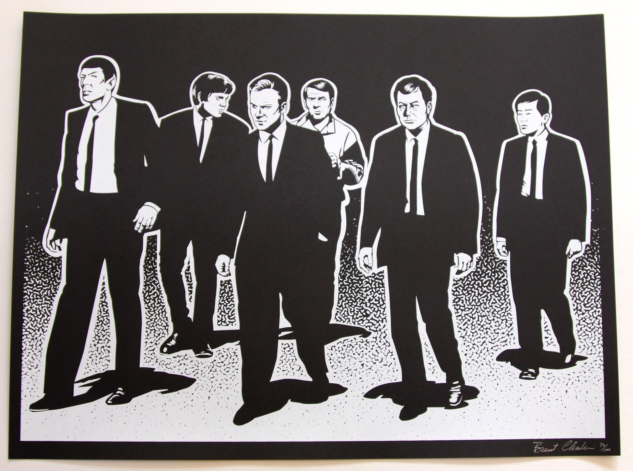 "Reservoir Dogs/Star Trek"" by Brent Cheshire. 18"" x 24"" Screenprint ..."