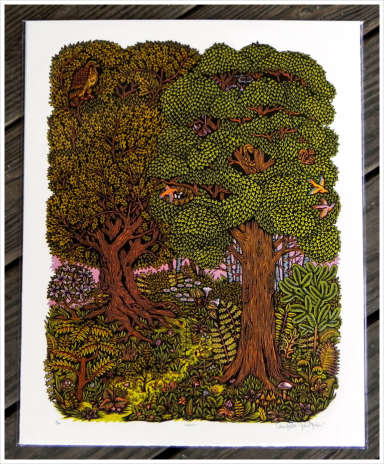 Woodcut Watercolor Pictures To Pin On Pinterest