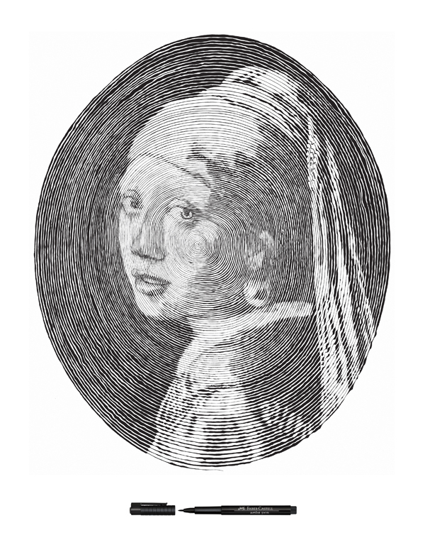 Chan Hwee Chong girl with a pearl earring