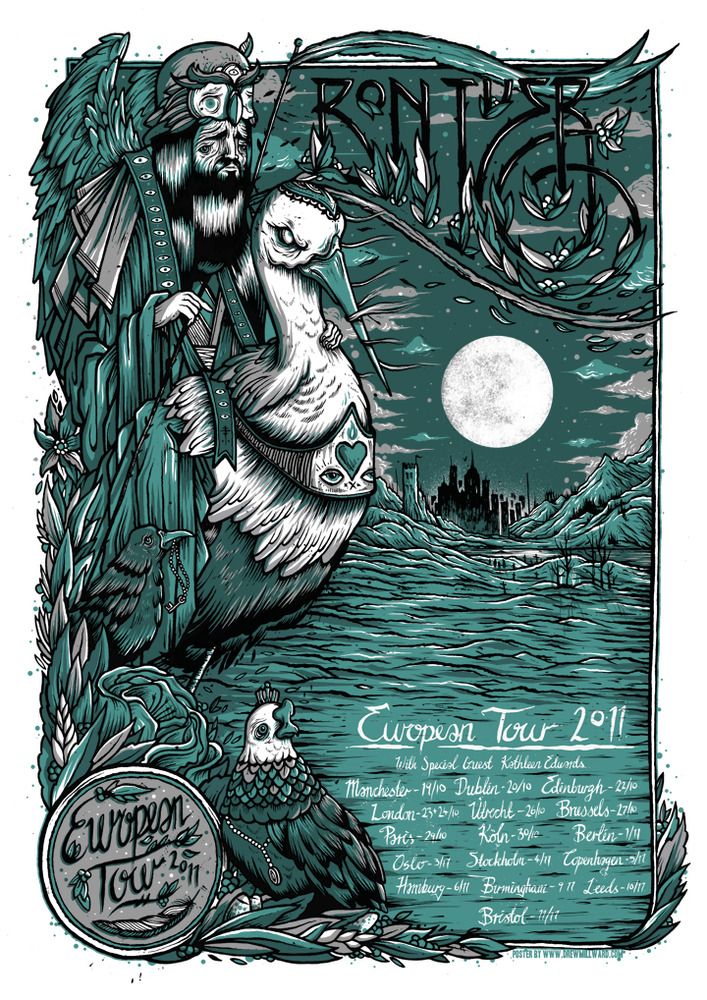 Millward Bon Iver European Tour Poster