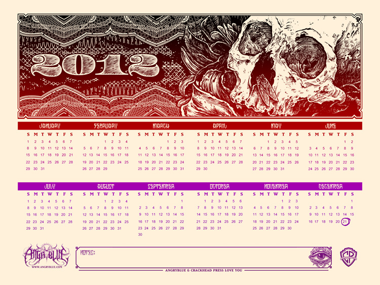 angryblue doom calendar