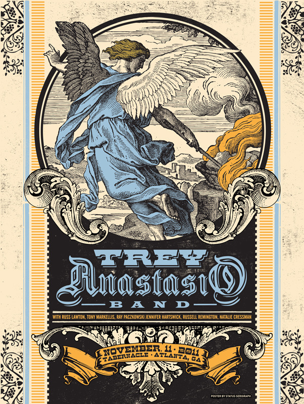 status serigraph Trey anastasio band atlanta