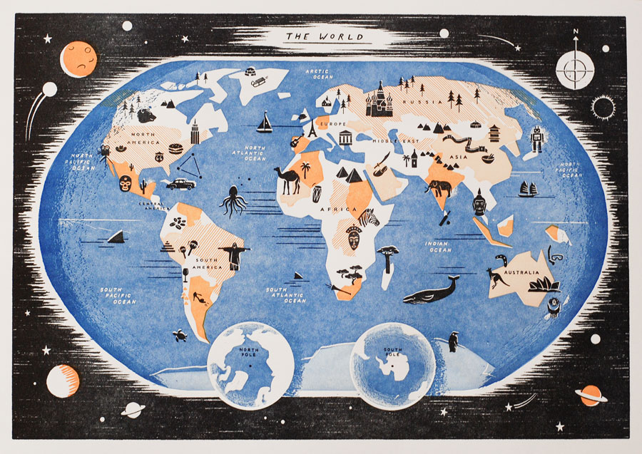 gatley map of the world