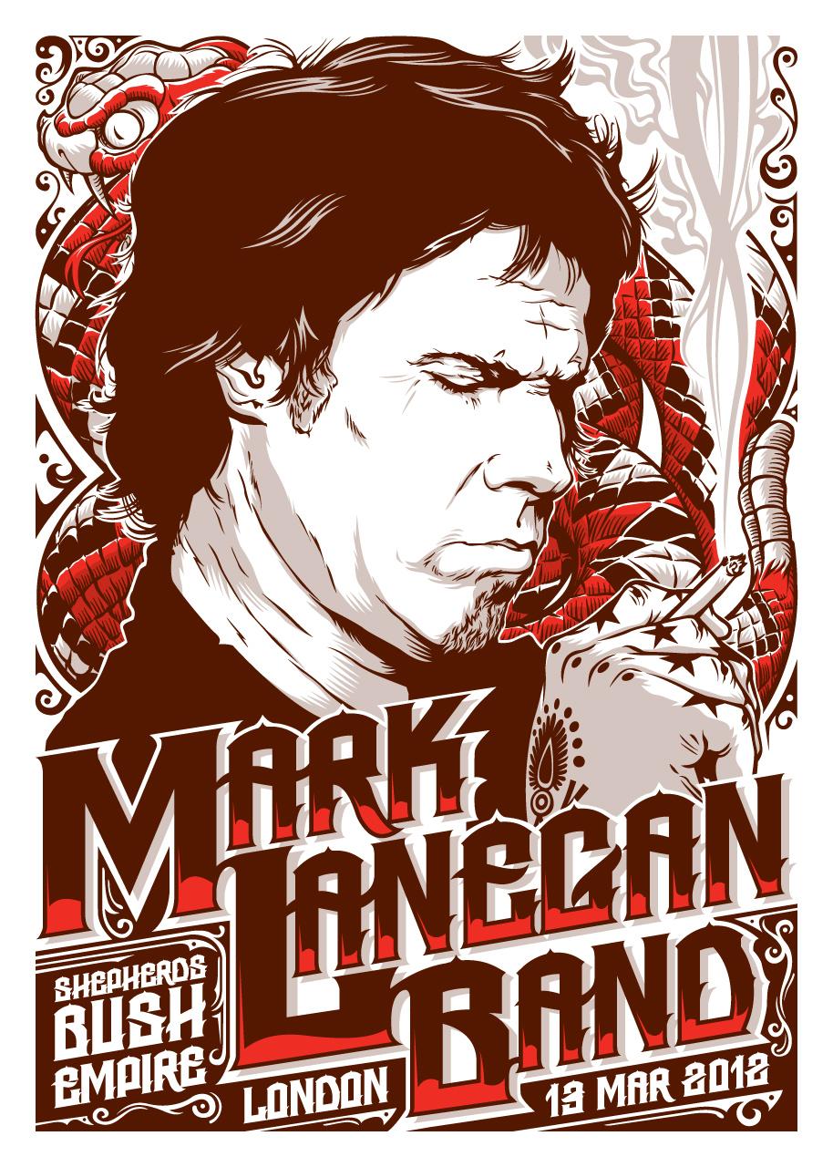 Mark Lanegan Tour Poster
