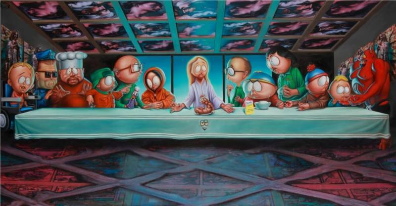 english last supper in south park