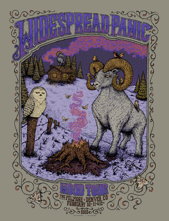 spusta widespread panic denver co artist edition