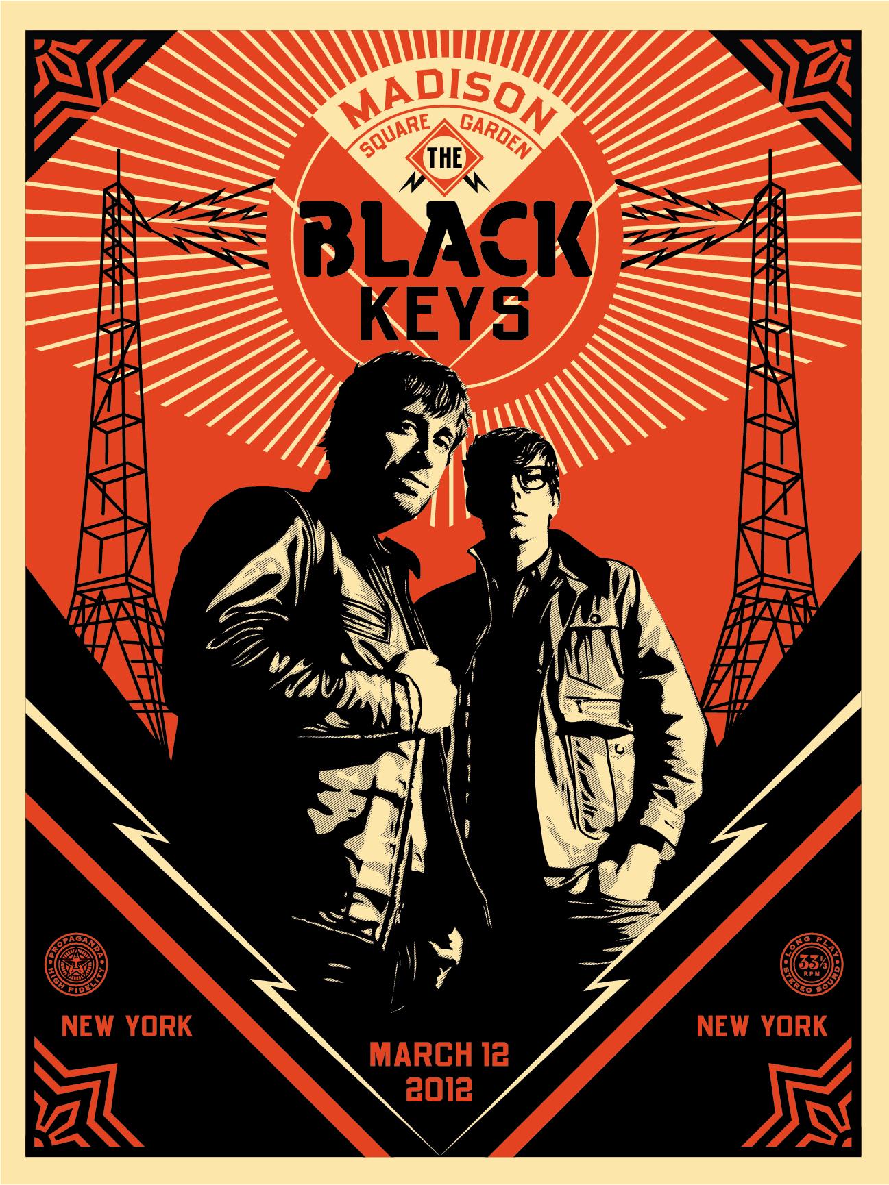 fairey the black keys ny 2012 night 1
