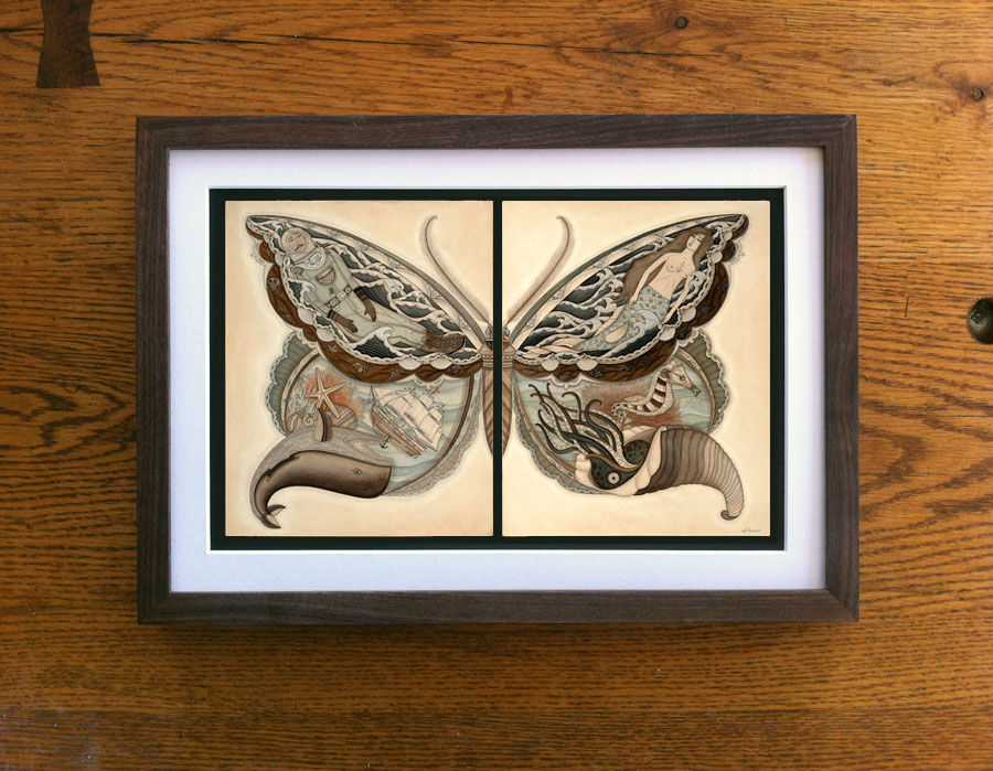 harris sea wings framed