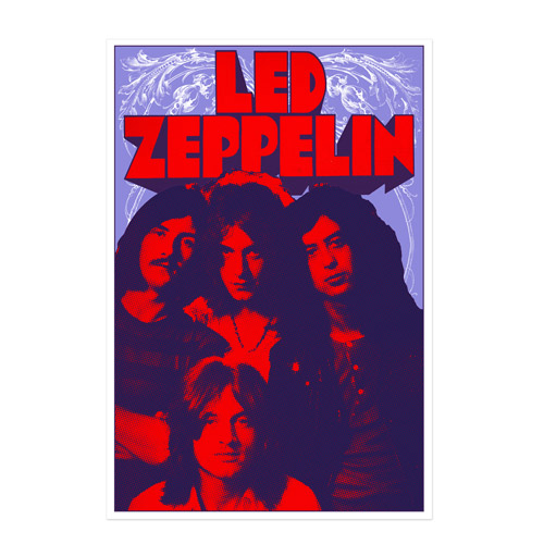 led zeppelin Band Promo Photo from 1969 Limited Edition Screen Print