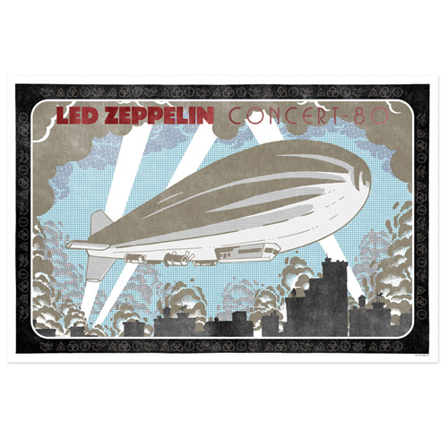 led zeppelin Concert 80 with Blimp Limited Edition Lithographic Print