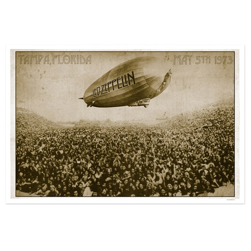 led zeppelin Tampa Stadium May 5th 1973 Limited Edition Lithographic Print