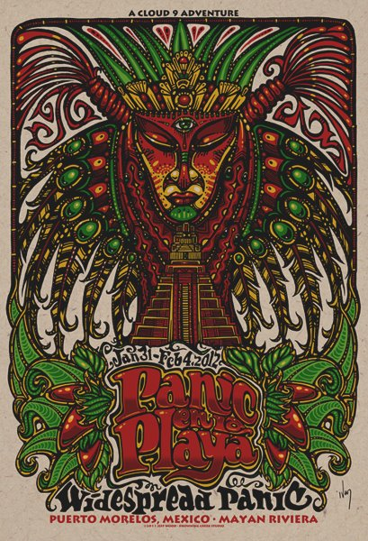 wood Widespread Panic Puerto Morellos mexico 2012