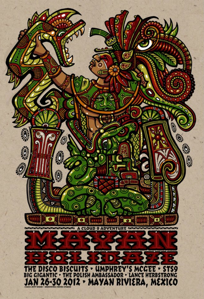 wood mayan holidaze 2012