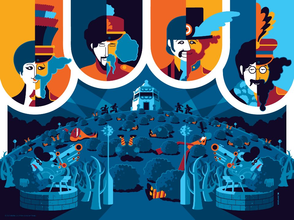 """The Beatles, Yellow Submarine"" print set by Tom Whalen ..."