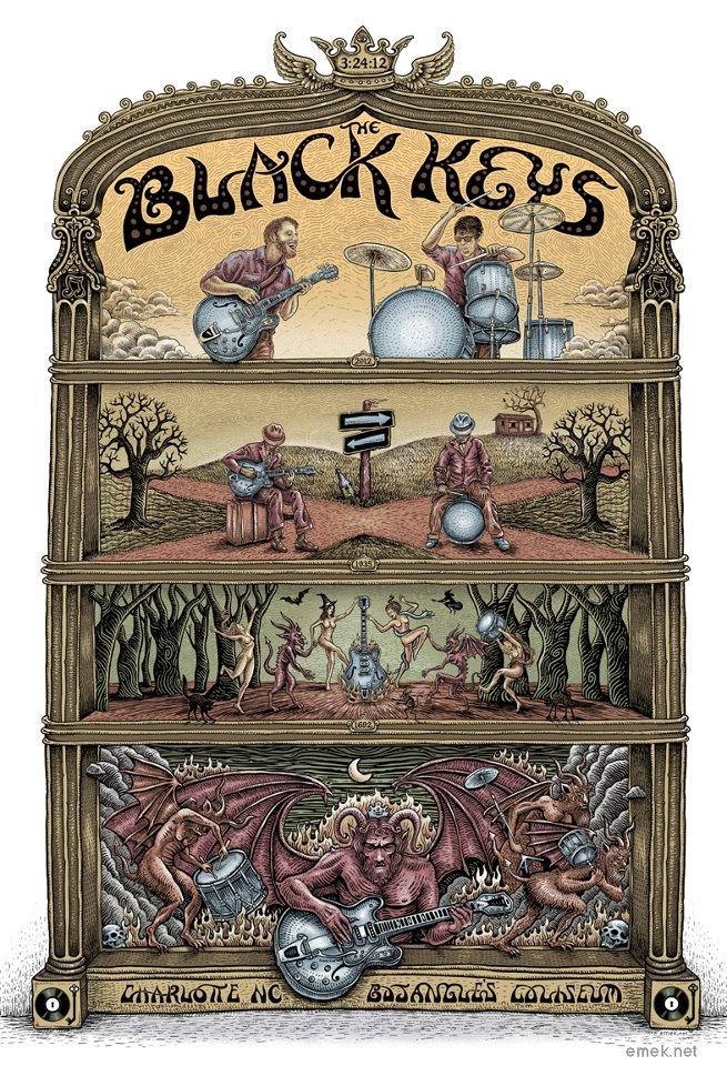 emek the black keys charlotte nc 2012