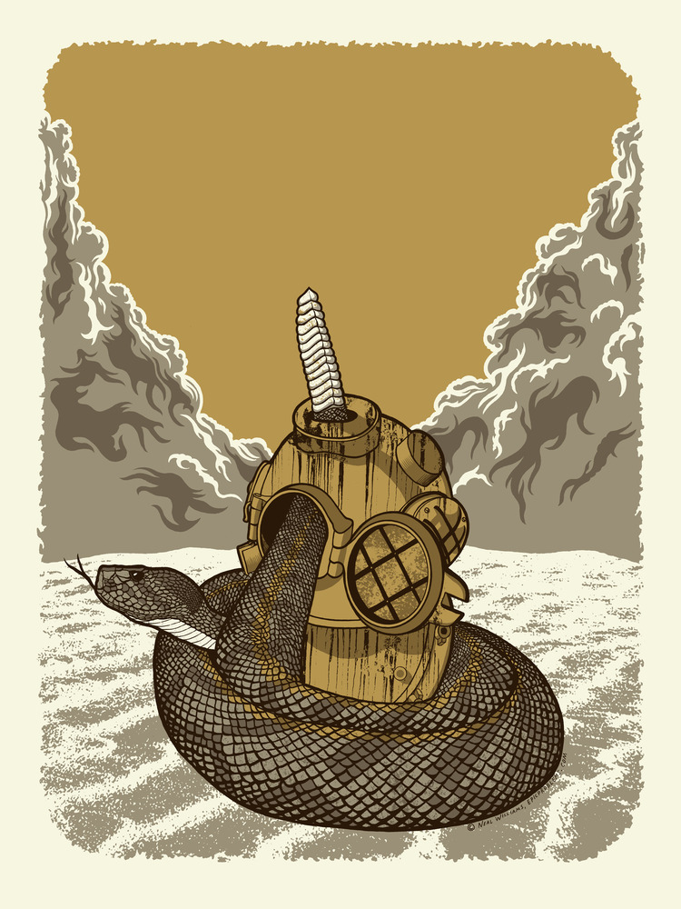 epic problems snake and divers helmet