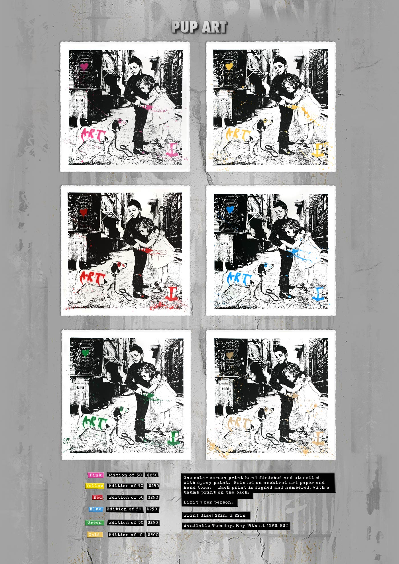 mr brainwash pup art