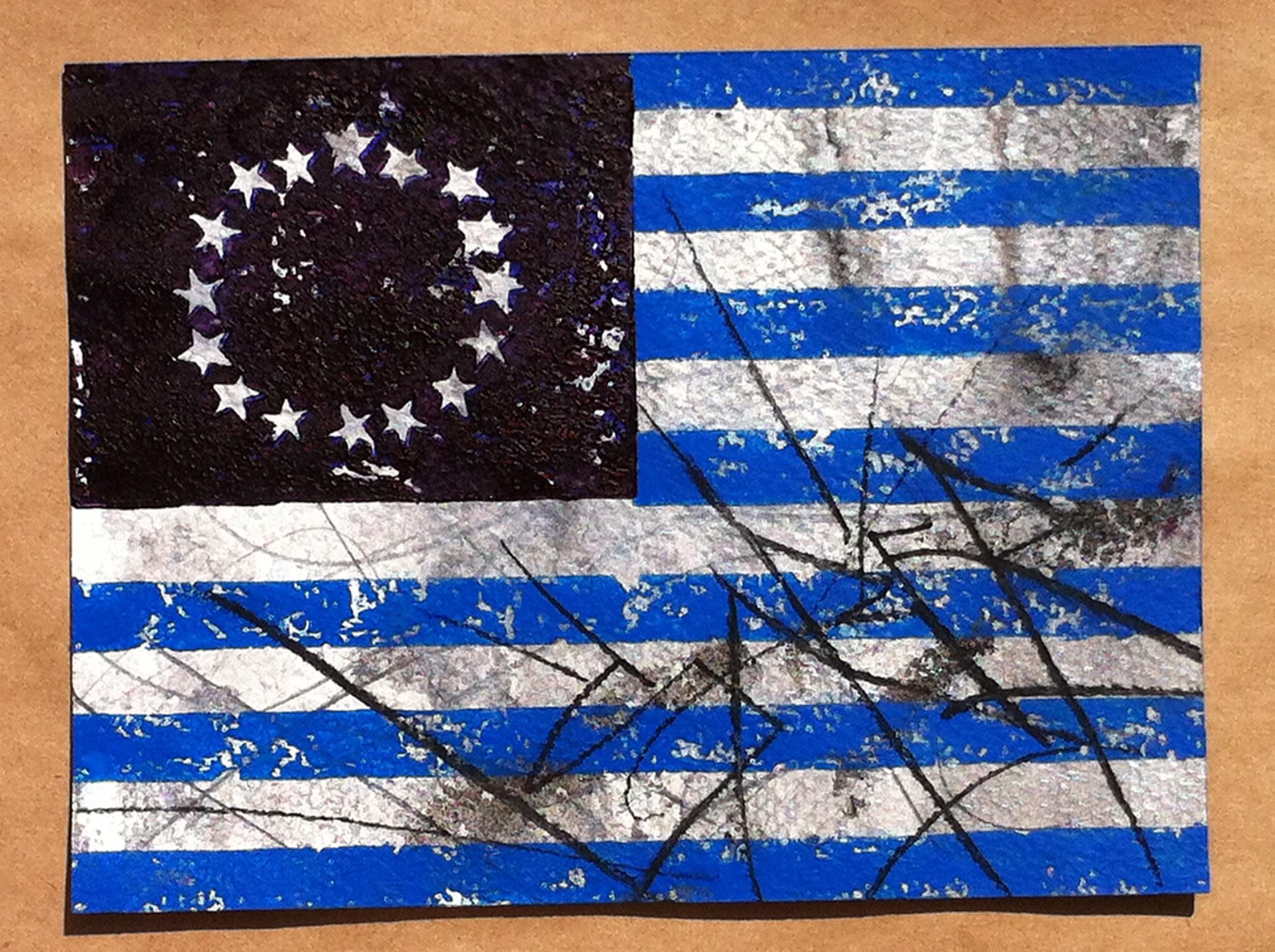 saber flag blue