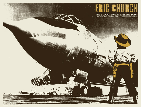 third alert design eric church Bossier City LA 2012