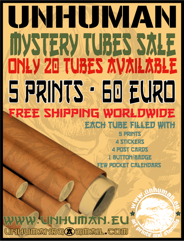 unhuman mystery tubes sale may 2012