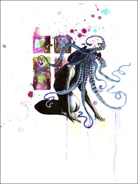 zombie octopus girl