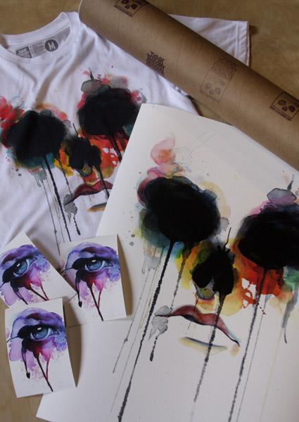 Bolognesi voodoo skull print + tshirt