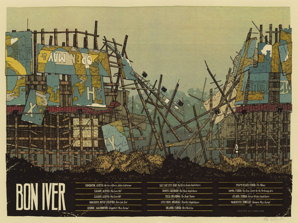 landland Bon Iver, Summer 2012 US Tour