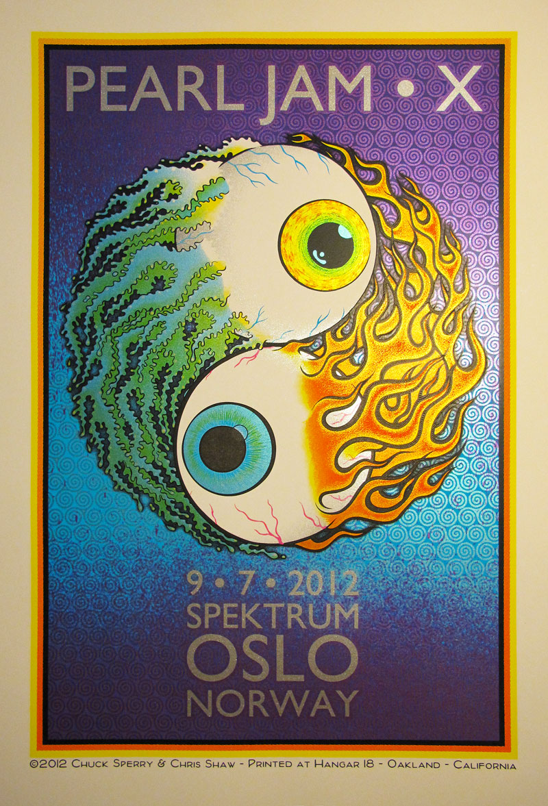 sperry shaw Pearl Jam, Olso Norway 2012