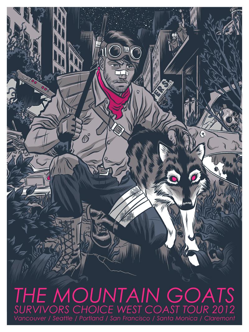 wilson iv Mountain Goats- West Coast Tour Poster #1