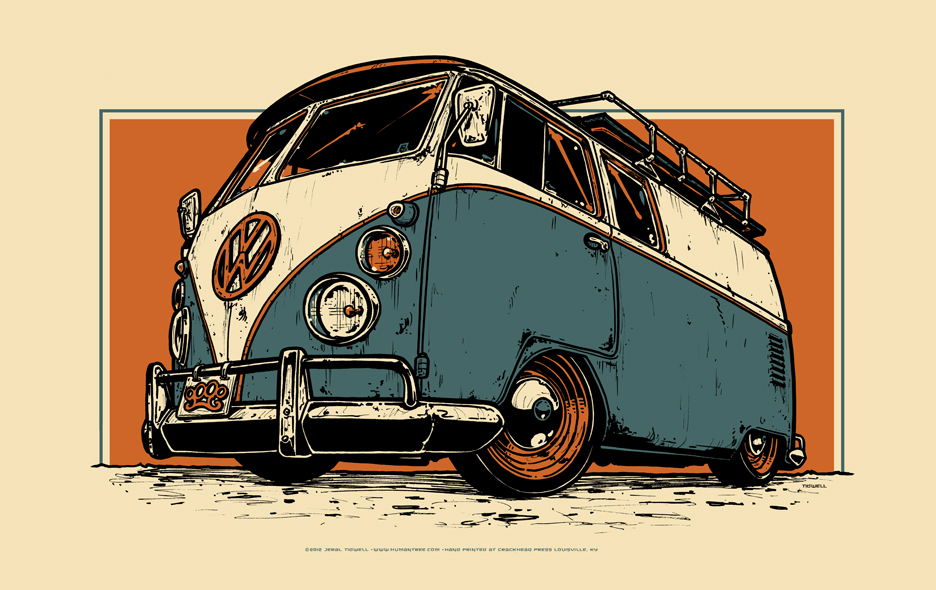 Vw Bus 411posters