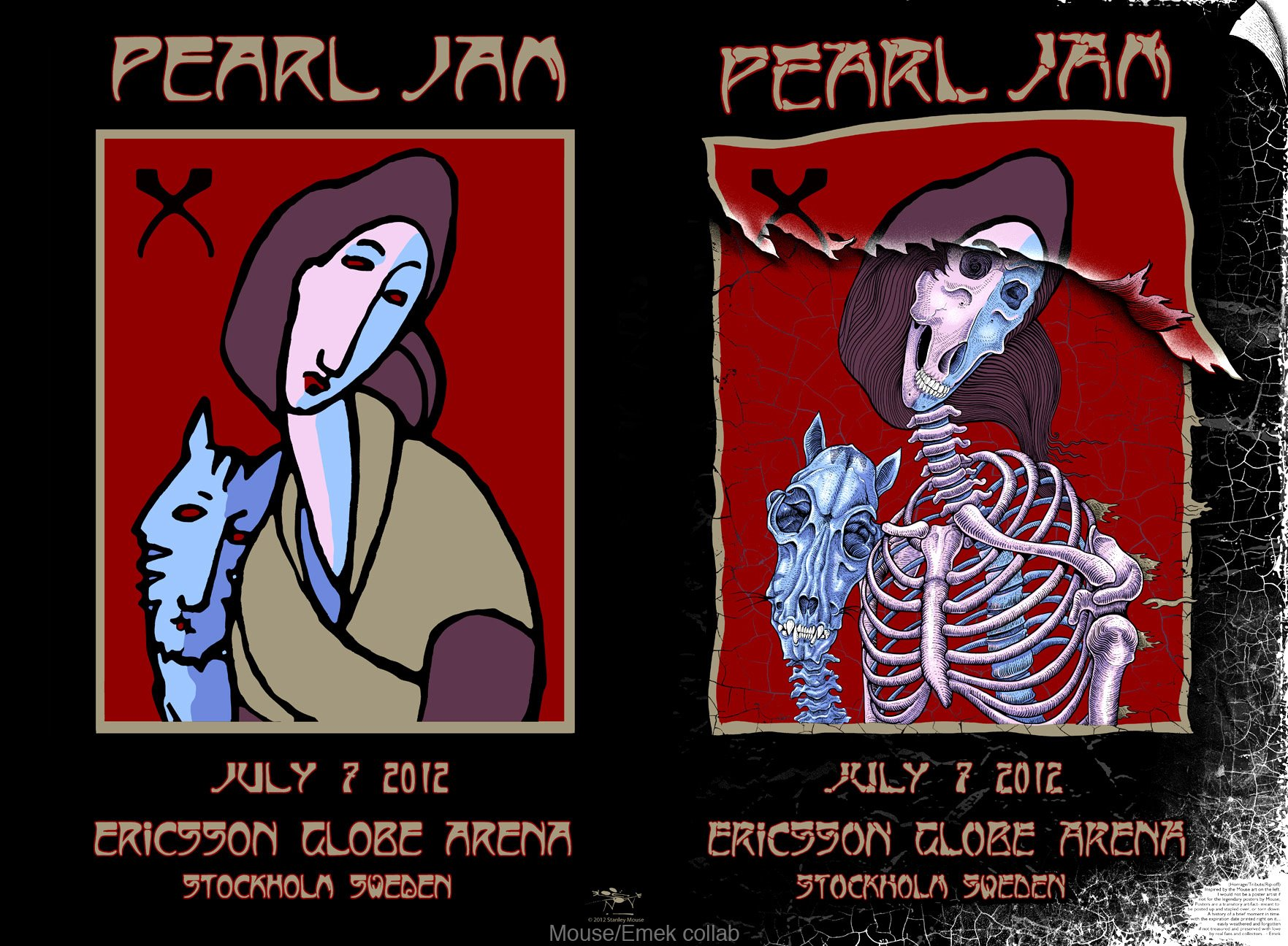 emek mouse Pearl Jam, Stockholm Sweden 2012