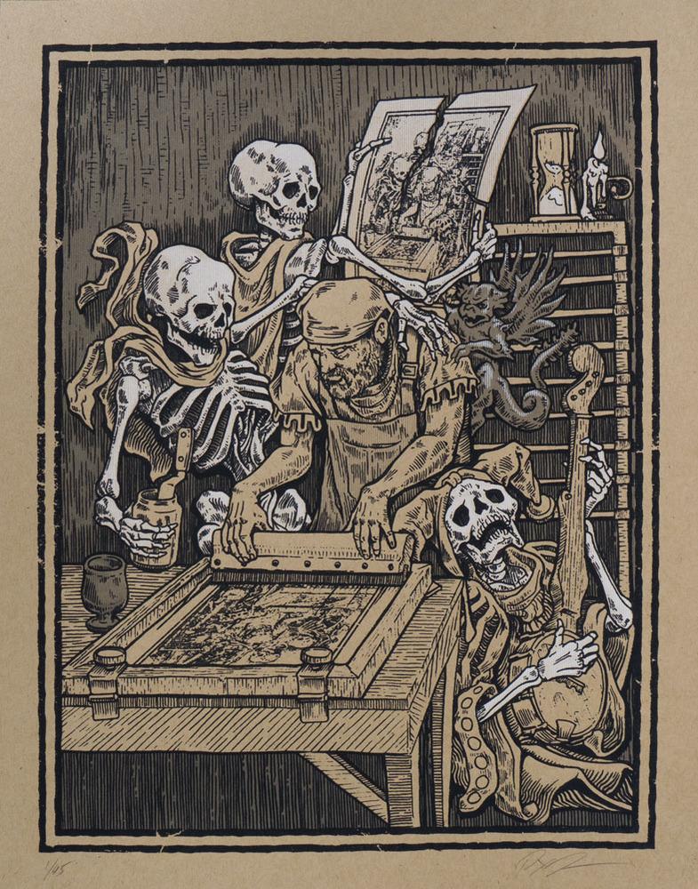 jones death and the screenprinter