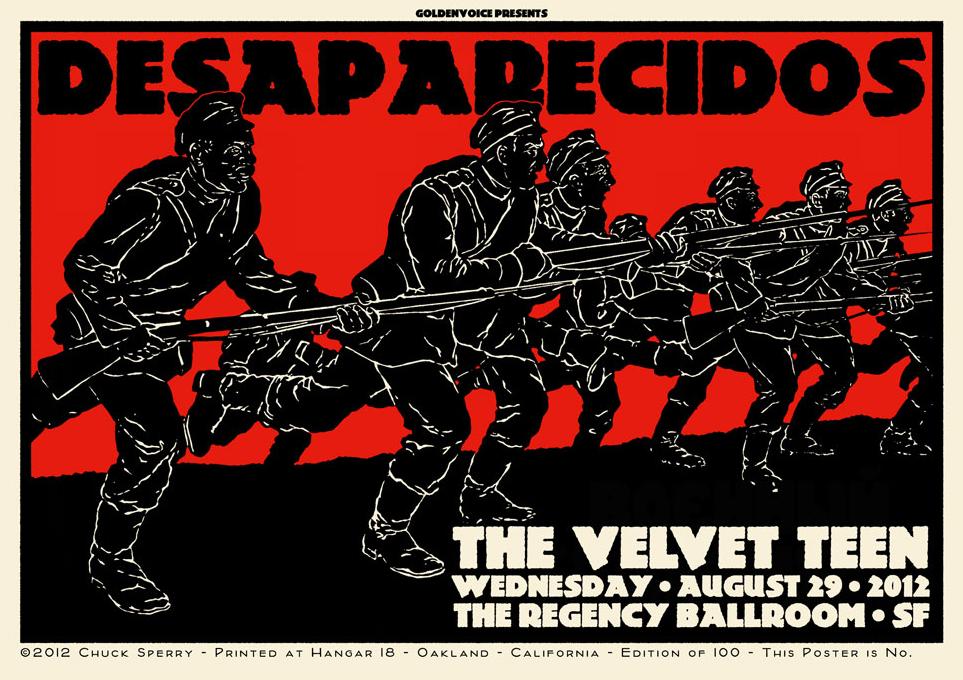 sperry Desaparecidos, The Regency Ballroom SF 2012