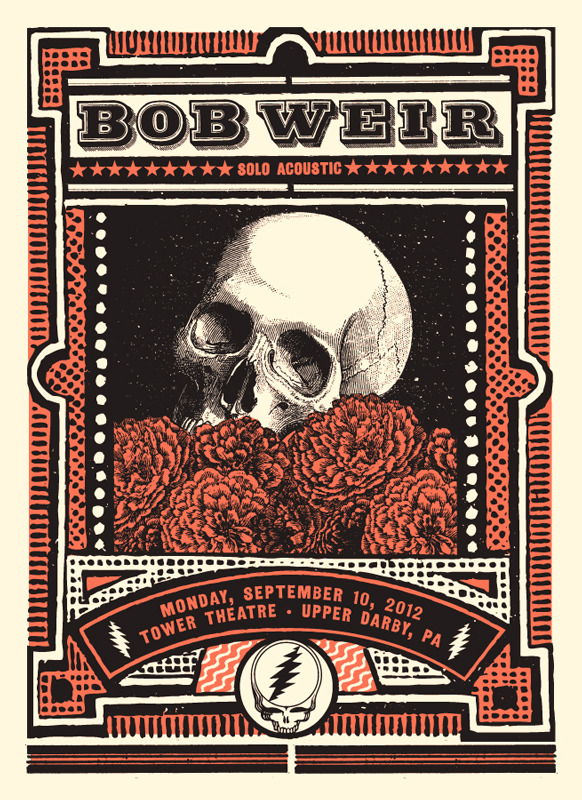 status serigraph Bob Weir upper darby pa