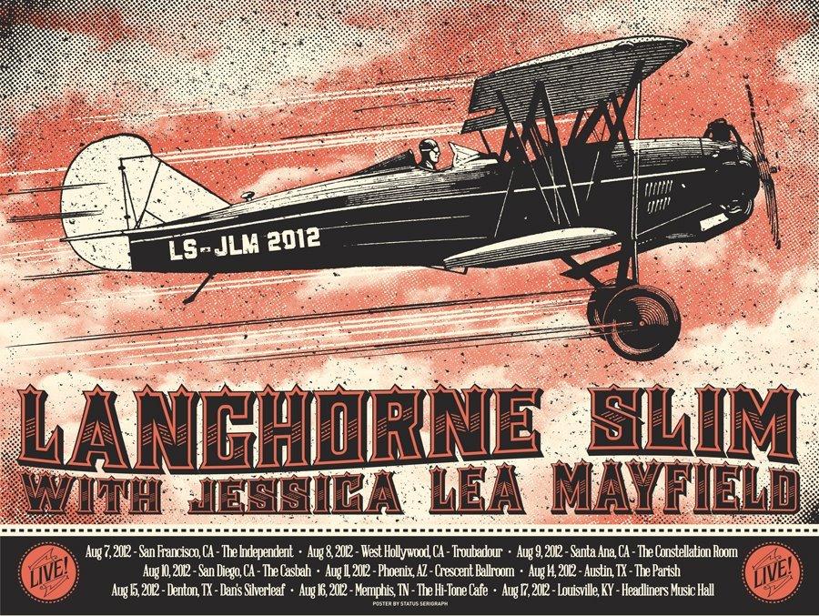 status serigraph Langhorne Slim Tour 2012