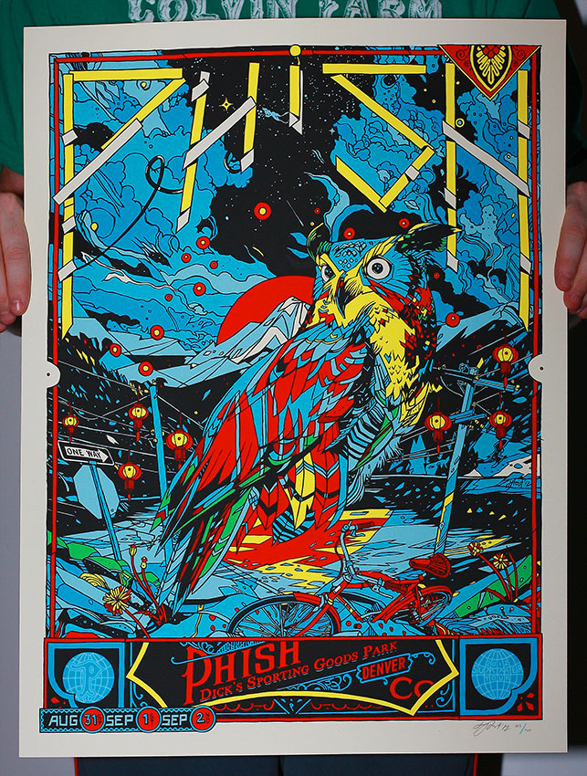 stout phish denver co 2012 blue