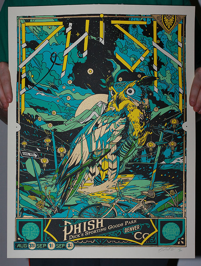 stout phish denver co 2012 green