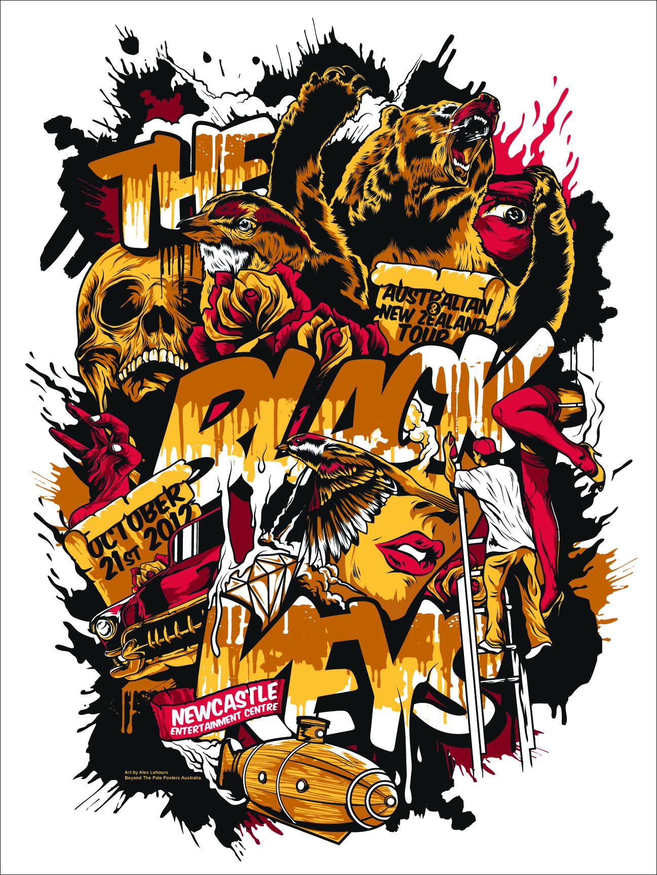 LeHours The Black Keys Newcastle Aust 2012