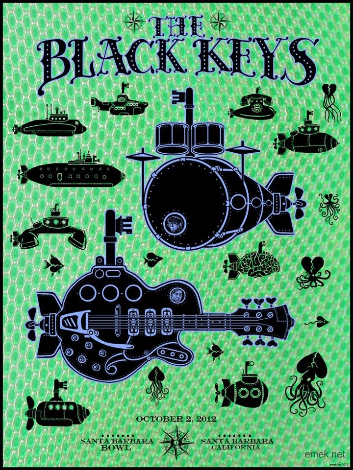 emek The Black Keys, Santa Barbara CA 2012