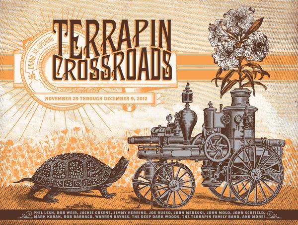 status serigraph Terrapin Crossroads - Grand Reopening 2012