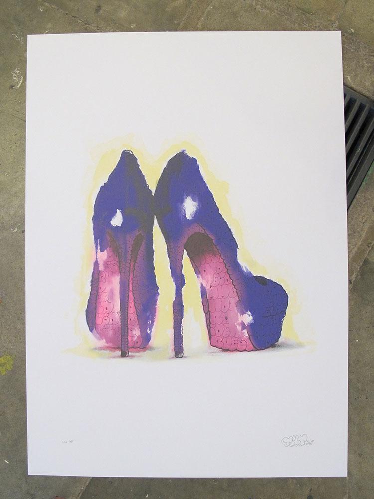 tilt heels purple