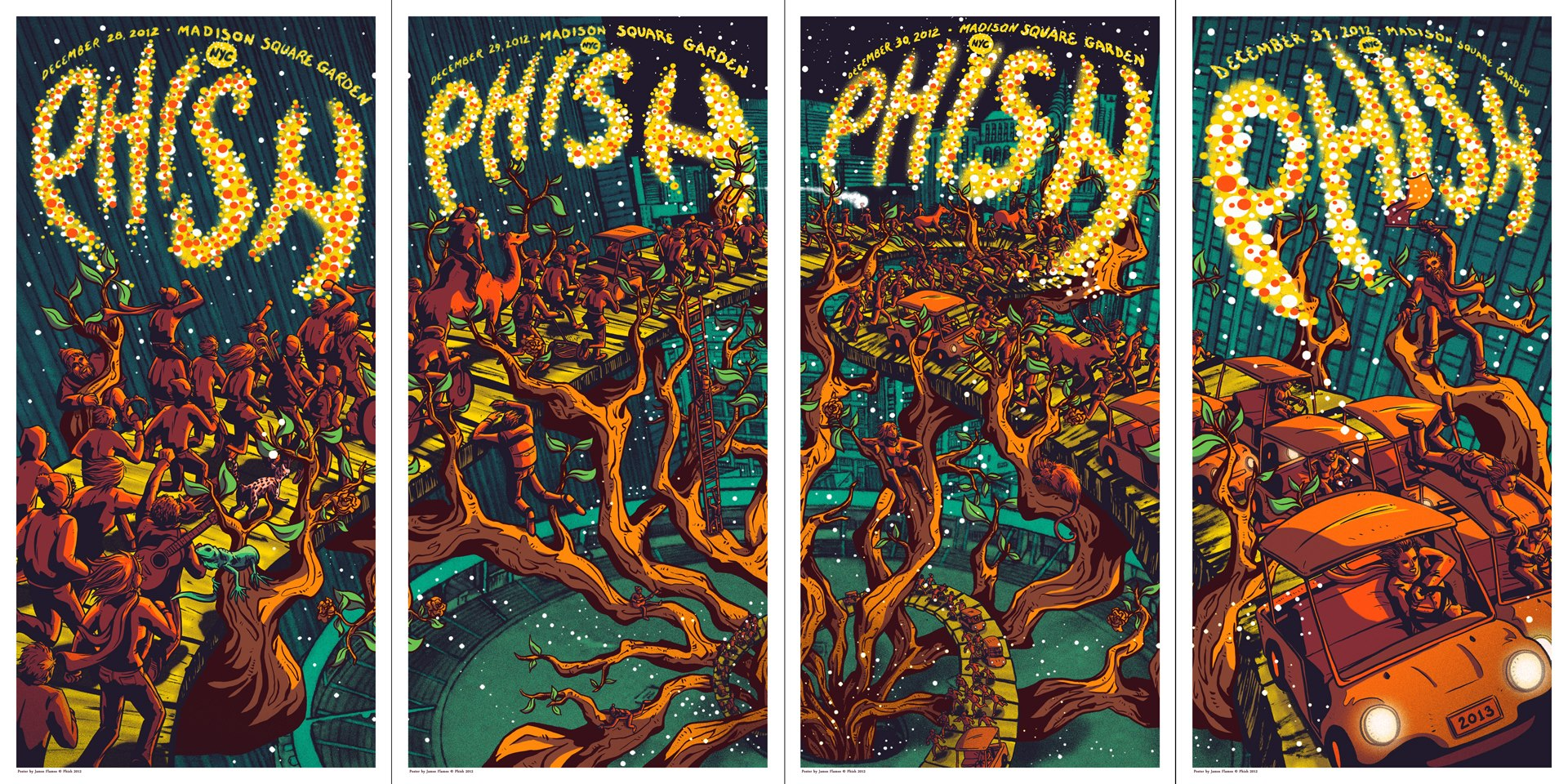 """Phish – New York, NY 2012"""" by James Flames 