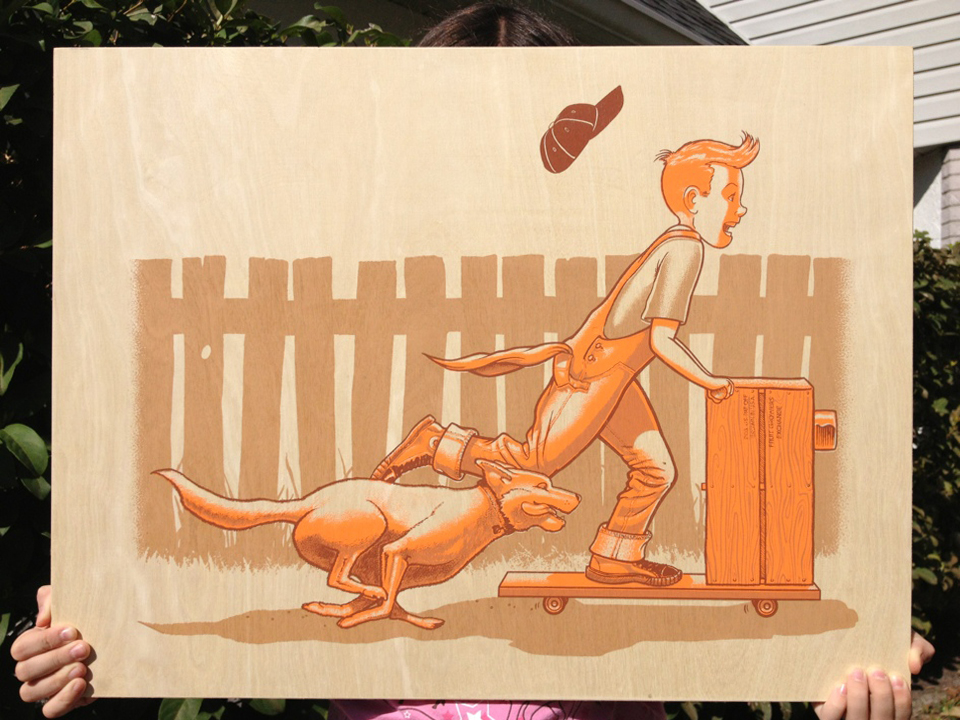 schwager orange crate kid wood