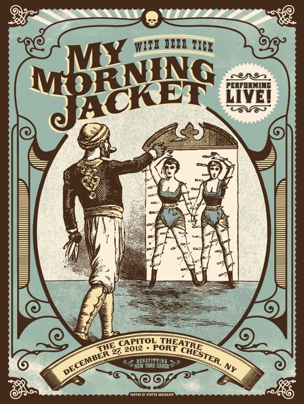 status serigraph My Morning Jacket - Port Chester, NY 12-27-12