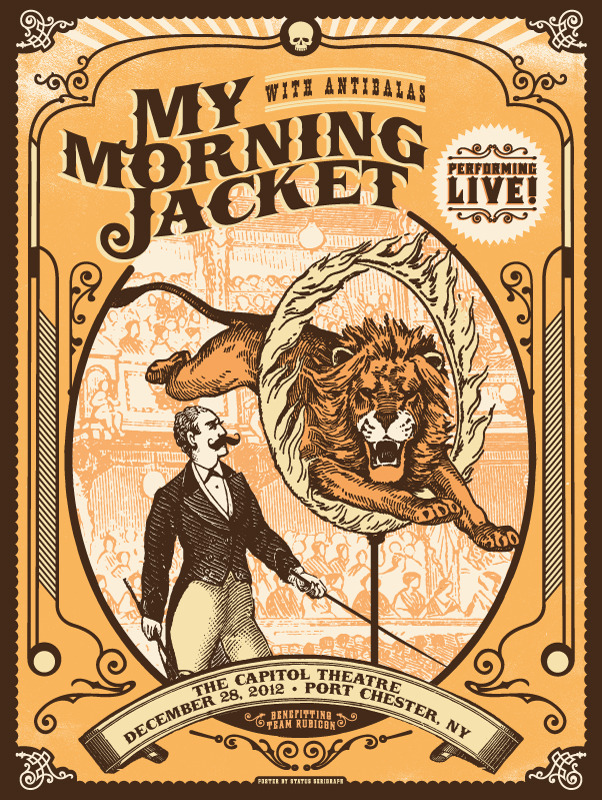 status serigraph My Morning Jacket - Port Chester, NY 12-28-12