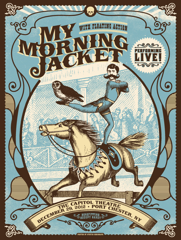 status serigraph My Morning Jacket - Port Chester, NY 12-29-12