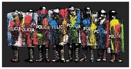 kguy PAINT BOMB POLICIA - Night Riot Black