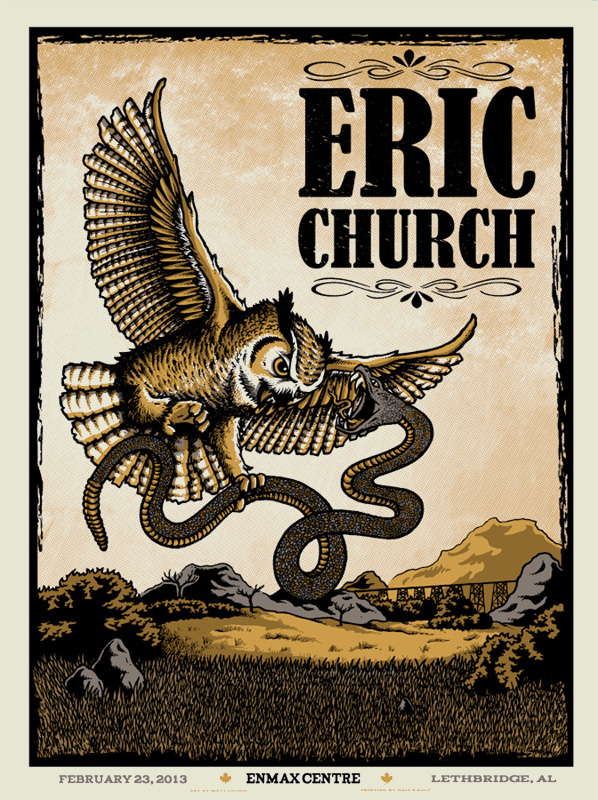 leunig eric church Lethbridge, AB 2013