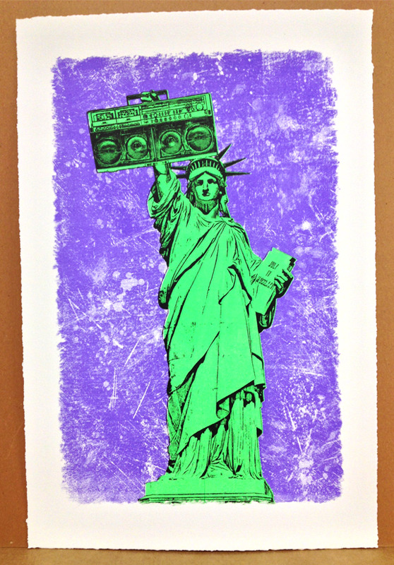 dellarious Let Freedom Ring Green violet